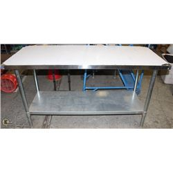"48"" X 24"" STAINLESS STEEL 2-TIER PREP-TABLE"