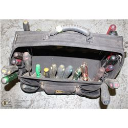 TOOL BAG WITH ASSORTED PHILIPS , FLAT HEAD AND