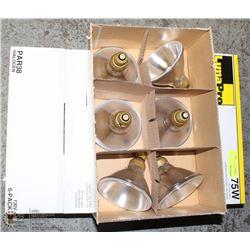 3 CASES OF LUMA PRO 130 VOLT PAR38 HALOGEN BULBS
