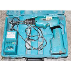 MAKITA DRILL CORDLESS WITH BATTERY AND CHARGER