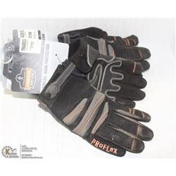 3 PAIRS OF ERGODYNE PROTECTION GLOVES - SIZE L