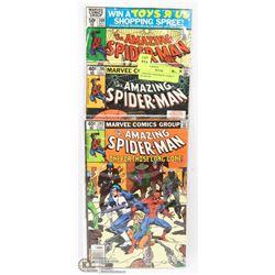 3 AMAZING SPIDERMAN COMICS 202,206,209