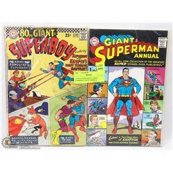 2 COLLECORS GIANT COMICS SUPERBOY AND SUPERMAN