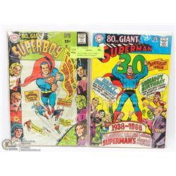 2 COLLECTORS GIANT COMICS SUPERBOY AND SUPERMAN