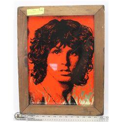 1970'S DOORS MORRISON GOLD FOIL GLASS PORTRAIT