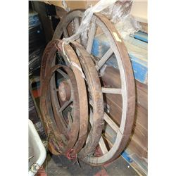 LOT OF ASSORTED WAGON WHEELS AS IS