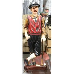 """OLD TIME GOLFING FIGURE STATUE 40"""" TALL"""
