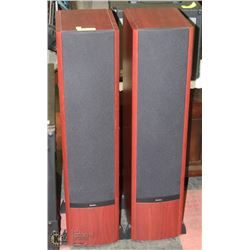 PAIR OF RED STAINED BOSTON VR2 REFERENCE SPEAKERS