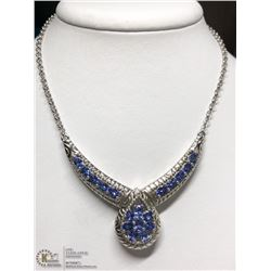 8) STERLING SILVER TANZANITE NECKLACE