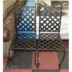 SET OF 2 WROUGHT IRON GARDEN CHAIRS