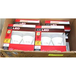 BOX OF SYLVANIA 10W = 60W LED LIGHT BULBS