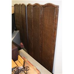 GROUP OF 2 WICKER ROOM DIVIDERS 51 X 71 EACH