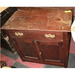 ANTIQUE WASH STAND CABINET. 30 X 17 X 30