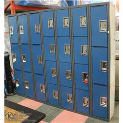 LOT WITH 7 BANKS OF LOCKERS - NOT ALL KEYS ARE