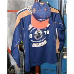 OILERS SIZE 10/12YRS, WESTERN CONFERENCE SHIRT