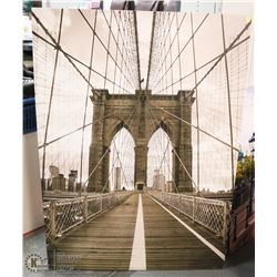 LARGE BRIDGE SCENE CANVAS PICTURE 39 X 55
