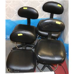 GROUP OF 4 HYDRAULIC LIFT SALON CHAIRS