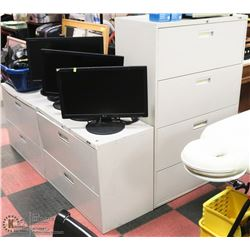 GROUP OF 3 ASSORTED FILING CABINETS - AS IS - NO