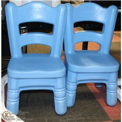 LOT OF 2 LITTLE TIKES BLUE CHAIRS