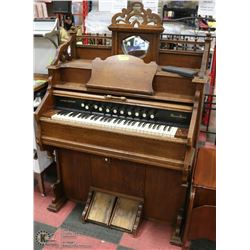 ANTIQUE LATE 1800S TO EARLY 1900S EATON PUMP ORGAN