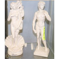 MAN & WOMAN SCULPTURES BY A. SANTINI -MADE IN
