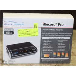 STREAMING NETWORK IRECORD PRO-PERSONAL MEDIA