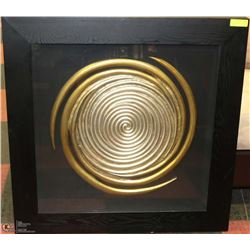 GOLD & SILVER SPIRAL WALL ART IN FRAME 35 X 36