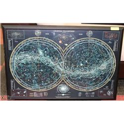 CELESTIAL PLANISHERE EPOCH 2000 DISPLAY WITH FRAME