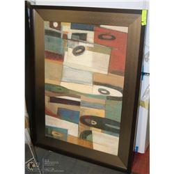 LARGE DECORATIVE FRAMED WALL ART 32 X 45