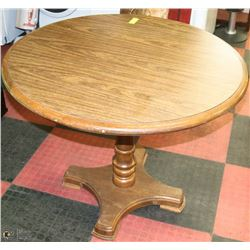 """ROUND WOODEN TABLE - 36"""""""