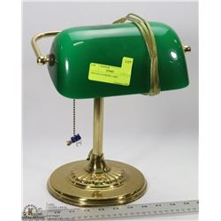 """VINTAGE BANKERS LAMP. 14"""" TALL"""