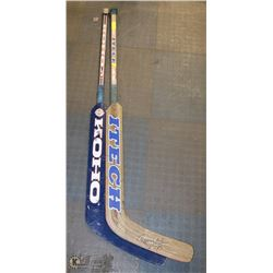 LOT OF 2 GOALIE STICKS WITH ONE TOMMY SALO