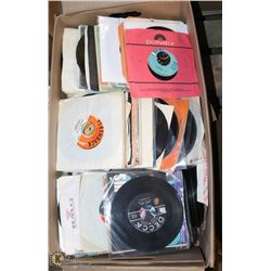 BOX OF OVER 400 ROCK AND POP 45'S