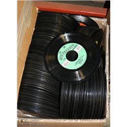 BOX OF OVER 200 ROCK AND POP 45'S