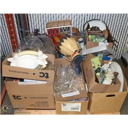 PALLET OF ESTATE ITEMS, INCLUDES CRYSTAL, HOME