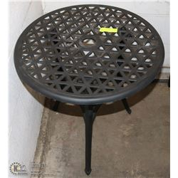 CAST METAL PATIO TABLE