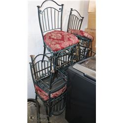 GROUP OF 8 METAL SIDE CHAIRS