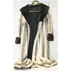 "THEFT RECOVERY47"" LONG BLACK CROSS MALE MINK COAT"