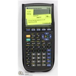 TEXAS INSTRUMENTS T1-83 CALCULATOR