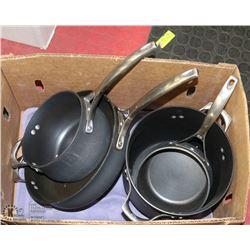 SET OF FOUR CHALPHALON PANS