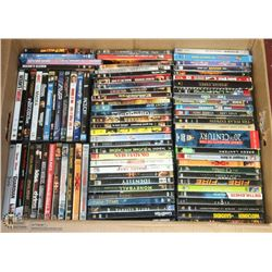 BOX WITH ABOUT 85 DVDS