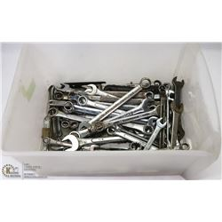 BIN W/ AROUND 100 MISCELLANEOUS WRENCHES