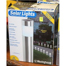 BOX OF 12 SOLAR LANDSCAPING LIGHTS