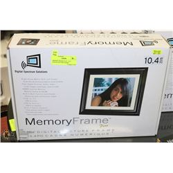 "MEMORY FRAME PLUS - 10.4"" DIGITAL PICTURE FRAME."