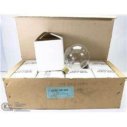 BOX W/ 8 NEW LARGE 5 INCH DIAMETER 40 WATT BULBS