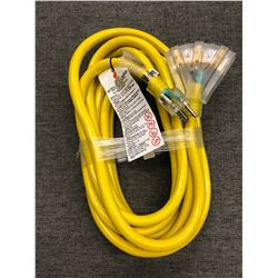25 FT Triple Outlet Heavy Duty Extension Cord.