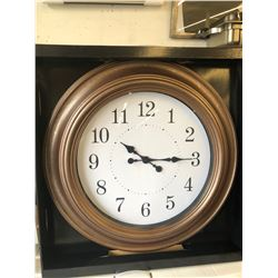 """A TO Z 24"""" Brown Clock"""