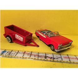 RED 50s CAR & U-HAULER TRAILER