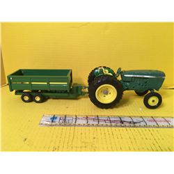 JD TRACTOR AND DUMP WAGON