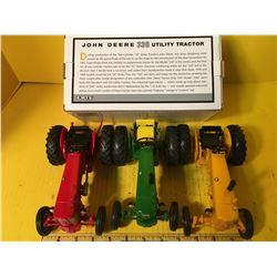 JD SET OF 3 JD 330 1/16 TRACTORS